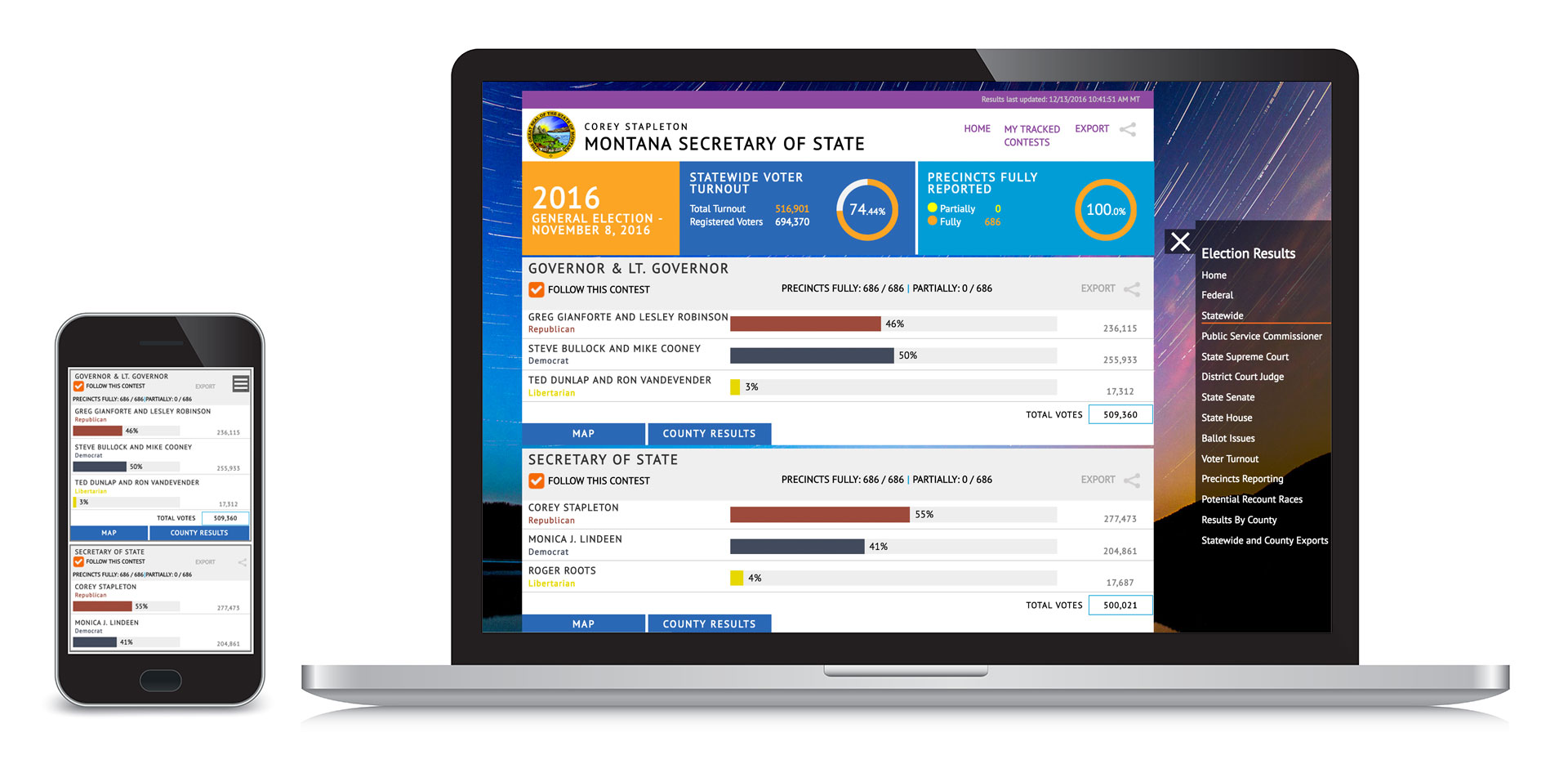 Technology Management Image: Election Night Reporting Module